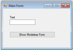 C#. Windows Forms. Створення немодальної форми. Головна форма програми