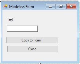 C#. Windows Forms. Немодальна форма після налаштування елементів управління