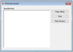 C#. Windows Forms. Програма роздруку документу. Головна форма