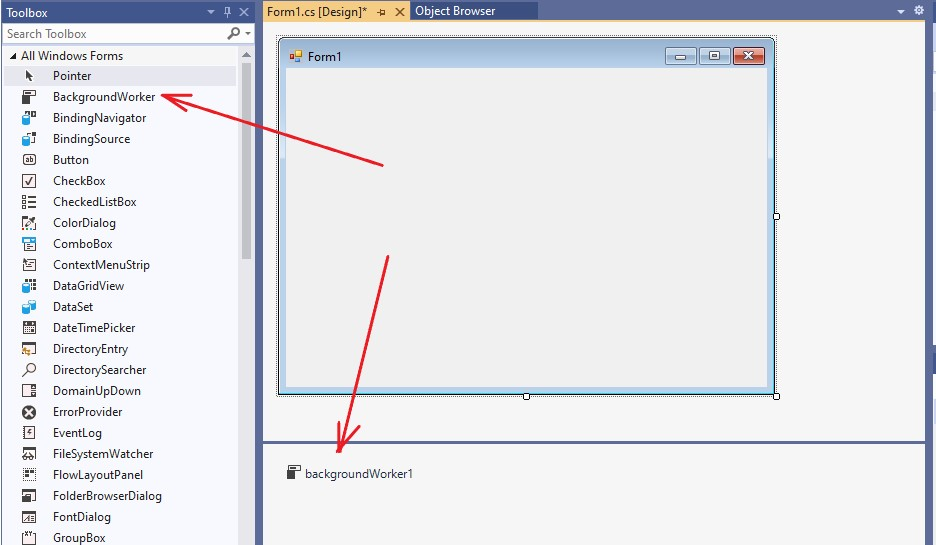 C#. Windows Forms. The BackgroundWorker control