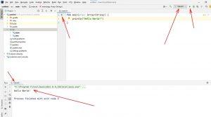 Kotlin. Вікно IntelliJ IDEA після запуску проекту на виконання